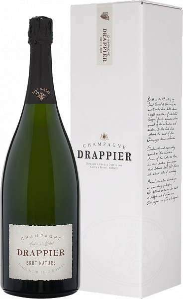 Drappier Brut Nature Zero Dosage Champagne AOP in gift box, 1.5л