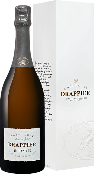 Drappier Brut Nature Zero Dosage Champagne AOP in gift box, 0.75л